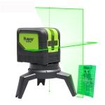 9211G 1V1H 15mW 2 Line 2 Dot Green Beam Laser Level Covering Walls and Floors (Green)