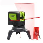 9211R 1V1H 10mW 2 Line 2 Dot Red Beam Laser Level Covering Walls and Floors (Red)