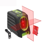 BOX-1R 1V1H 40mW & 10mW 2 Line Red Beam Laser Level Covering Walls and Floors (Red)