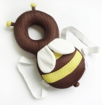 35cm Summer Breathable Coffee Bee Pattern Shockproof Head Pad for Baby Children Waliking