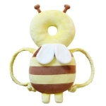 Big Yellow Plush Bee Pattern Shockproof Head Pad for Baby Children Waliking