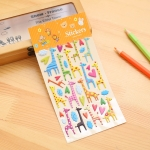 2 PCS Giraffe Pattern Creative Cartoon Children DIY Album Diary Decorative Stereo Bubble Sticker