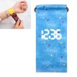 Stars Pattern Creative Fashion Waterproof Paper Watch Intelligent Paper Electronic Wristwatch