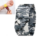 Camouflage Black Pattern Creative Fashion Waterproof Paper Watch Intelligent Paper Electronic Wristwatch