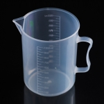 1000ml PP Plastic Flask Digital Measuring Cup Cylinder Scale Measure Glass Lab Laboratory Tools(Transparent)