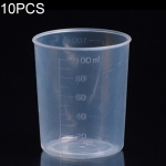 10 PCS 100ml PP Plastic Flask Digital Measuring Cup Cylinder Scale Measure Glass Lab Laboratory Tools(Transparent)