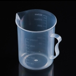 250ml PP Plastic Flask Digital Measuring Cup Cylinder Scale Measure Glass Lab Laboratory Tools(Transparent)