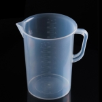 5000ml PP Plastic Flask Digital Measuring Cup Cylinder Scale Measure Glass Lab Laboratory Tools (Transparent)