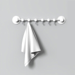 Creative Traceless Rows of Hooks Wall / Door Hanging Hook Home Bathroom Kitchen (White)