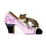 CP-048 High-heel Shaped Corrugated Paper Cat Scratch Board Cat Litter Claw Toy