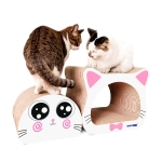 2 in 1 Ox-eyed Cathead Corrugated Paper Cat Scratch Board Cat Grinding Claw Toy