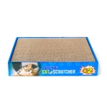 CP-047 2 in 1 Square Flatbed Shaped Corrugated Paper Cat Scratch Board Cat Grinding Claw Toy