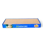 CP-047 2 in 1 Rectangle Flatbed Shaped Corrugated Paper Cat Scratch Board Cat Grinding Claw Toy