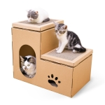 CP-088 Double Ladder Corrugated Paper Cat Scratch Board Cat Litter Claw Toy Cat Pet Supplies