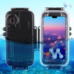 HAWEEL 40m/130ft Waterproof Diving Housing Photo Video Taking Underwater Cover Case for Huawei P20(Black)