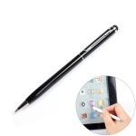 Rubber Contact Capacitive Pen Dual-purpose Stylus Pen (Black)