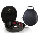Carbon Fiber Texture EVA Storage Box Shockproof Bag for Headset (Black)