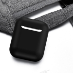 TOTU Glory Series FGRG-002 2 in 1 TWS Bluetooth Earphone Shockproof Drop-proof Silicone Case + Magnetic Anti-lost Rope Set for AirPods(Black)