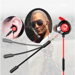 K9 In-Ear Style Gaming Earphone with Mic & 3.5mm Jack Plug & Play for Smartphone, Tablet, Computer, Notebook(Red)