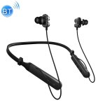 PLEXTONE BX345 Bluetooth Wireless Headphones Dual Unit HIFI Stereo Bass IPX5 Waterproof Earphone with Mic (Black)