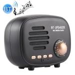 Q108 Retro Mini Wireless Bluetooth Speaker, Support Hands-free / TF Card / U disk / FM (Black)