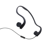 Rear Hanging Wire-Controlled Bone Conduction Outdoor Sports Headphone(Black)
