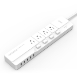 ORICO OSJ-4A5U-5A-US-WH Smart Charging Desktop Surge Protector Power Socket, with 4 AC Outlets & 5 USB Ports,US Plug(White)
