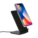 A8 10W Vertical Wireless Charging Charger for iPhone XR / XS Max / Galaxy S9+ / S9 / Huawei Mate 20 Pro and Other QI-enabled Device (Black)