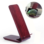 A8 10W Wood Texture Vertical Wireless Charging Charger for iPhone XR / XS Max / Galaxy S9+ / S9 / Huawei Mate 20 Pro and Other QI-enabled Device(Red)