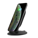 M8 10W Vertical Wireless Charging Charger for iPhone XR / XS Max / Galaxy S9+ / S9 / Huawei Mate 20 Pro and Other QI-enabled Device (Black)