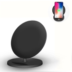 Q8 10W Vertical Wireless Charging Charger for iPhone XR / XS Max / Galaxy S9+ / S9 / Huawei Mate 20 Pro and Other QI-enabled Device (Black)