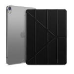 Multi-folding Shockproof TPU Protective Case for iPad Pro 12.9 inch (2018), with Holder & Sleep / Wake-up Function(Black)