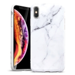 ESR Marble-Glass Series TPU Protective Case for iPhone XS Max (White)