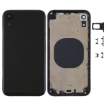 Back Housing Cover with Camera Lens & SIM Card Tray & Side Keys for iPhone XR(Black)