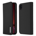DUX DUCIS WISH Series TPU + PU + Leather Case for iPhone XR, with Card Slots & Wallet (Black)