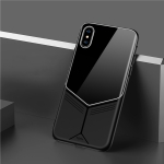 TOTUDESIGN Grace Series TPU + PC + Glass Protective Case for iPhone X / XS (Black)