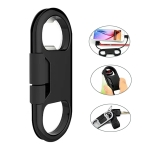 Multi-function 20cm USB to 8 Pin Data Sync Charging Cable & Bottle Opener & Keychain (Black)