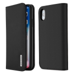 DUX DUCIS WISH Series TPU + PU + Leather Case for iPhone X / XS, with Card Slots & Wallet (Black)