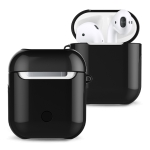Varnished PC Bluetooth Earphones Case Anti-lost Storage Bag for AirPods(Black)
