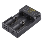 N2 PLUS Micro USB Smart Battery Charger with Indicator Light for 26650, 18650,18500, 14500, 16340(RCR123) IMR / Li-on Battery or AA, AAA, AAAA, C Ni-MH / Ni-Cd Battery