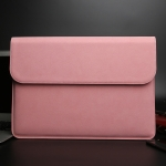 Horizontal Matte Leather Laptop Inner Bag for MacBook Pro 15.4 inch A1707 (2016 – 2017) (Pink)