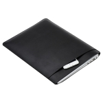 Laptop PU Leather Double Inner Bag for MacBook 12 inch(Black)