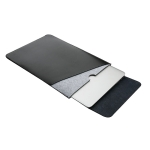 Laptop Microfiber Leather Double Layer Inner Bag for MacBook Air 11.6 inch A1465 (2012 – 2015) / A1370 (2010 – 2011)(Black)
