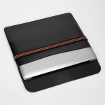 Horizontal Elastic Band Laptop Microfiber Leather Inner Bag for MacBook 12 inch (Black)