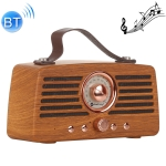NewRixing NR-4013 Retro Manchurian Ash Texture Hand Wireless FM Speaker with Call Function, Support TF Card & U Disk