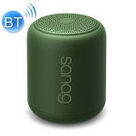 SanagX6 Mini Waterproof Portable Card Overweight Subwoofer Wireless Bluetooth Speaker (Green)