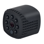 Q12 Mini 1080P HD WiFi IP Camera, Support Infrared Night Vision & Motion Detection & TF Card (128GB Max) (Black)