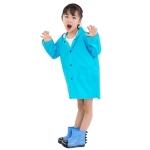 Cartoon Dinosaur Children Fashion Raincoat Size: L (Blue)