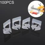100 PCS 1.0mm Lengthen Tile Leveling System Clips Kit Wall Floor Tile Spacer Tiling Tool