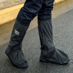 Outdoor High Tube Rainproof Snowproof Thickened Rain Shoes Size: S (Black)